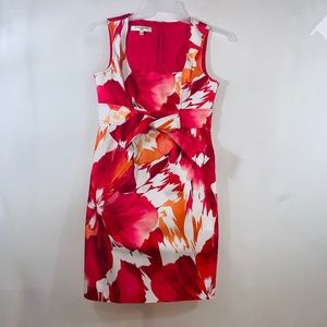 EVAN-PICONE Bright Floral Dress Size 10 Petite
